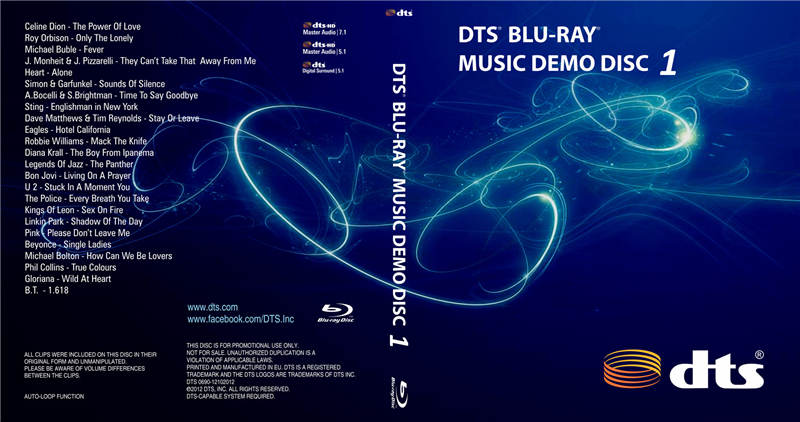 DTS蓝光音乐演示碟1 DTS BLU-RAY MUSIC DEMO DISC 1-DEMO51.COM