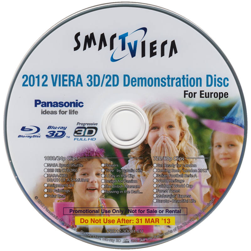 松下2012年VIERA 3D/2D演示碟 Panasonic '12 VIERA 3D/2D Demonstration Disc