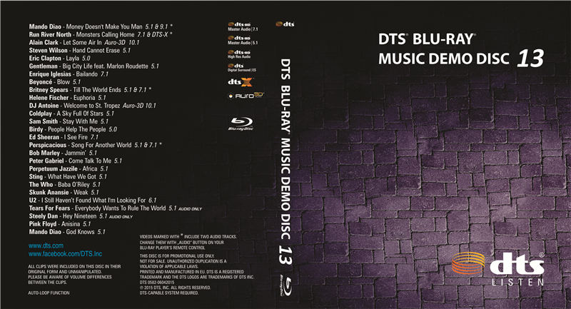 DTS蓝光音乐演示碟13 DTS BLU-RAY MUSIC DEMO DISC 13